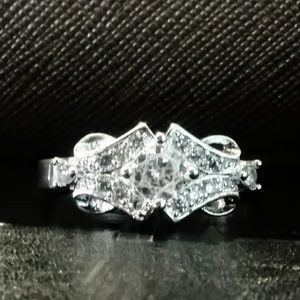 Diamond CZ Sterling Silver Ring